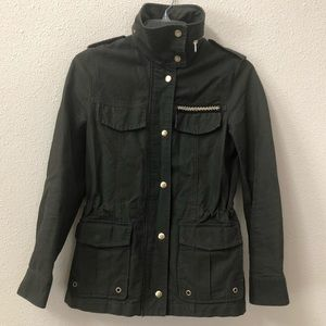 H&M Utility Military Green Zip Up Jacket Size 4